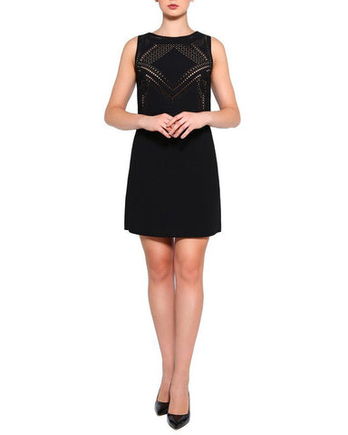 Laser Cut Details Dress-Jezzelle