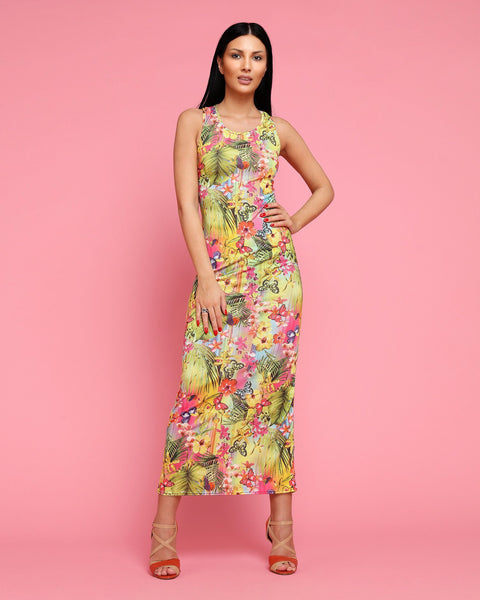 Tropical Print Maxi Dress - Jezzelle
