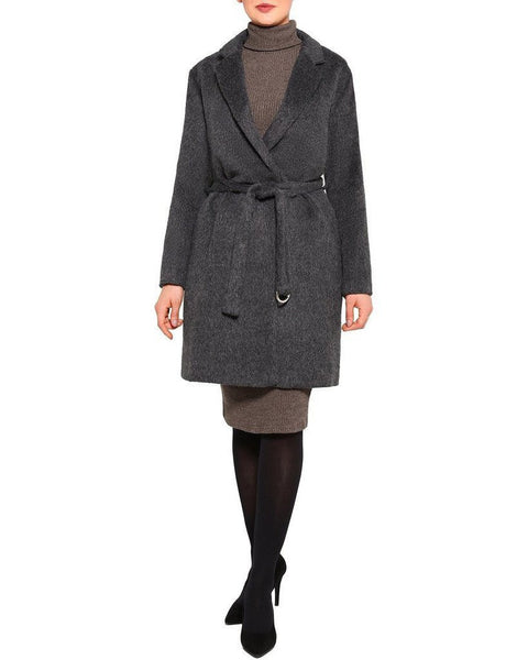 Belted Brushed Wool Coat - Jezzelle