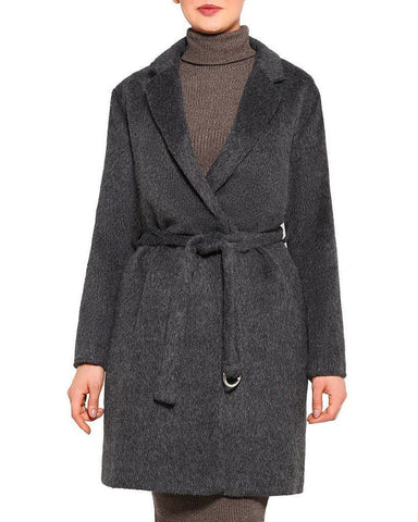 Belted Brushed Wool Coat-Jezzelle