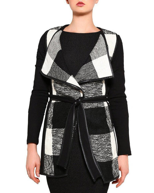 Belted Waterfall Coat-Jezzelle