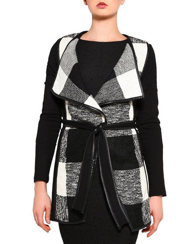 Belted Waterfall Coat - Jezzelle