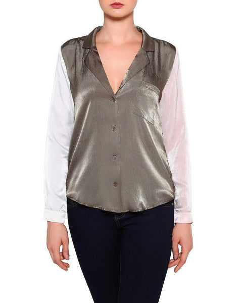 Satin Multicolour Blouse-Jezzelle