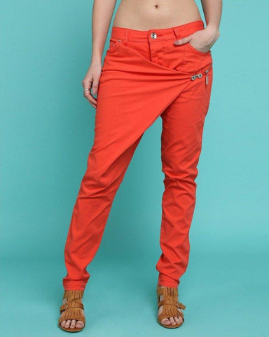 Large Front Crossover Jeans - Jezzelle