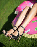 Cut-out Ankle Strap Shoes - Jezzelle