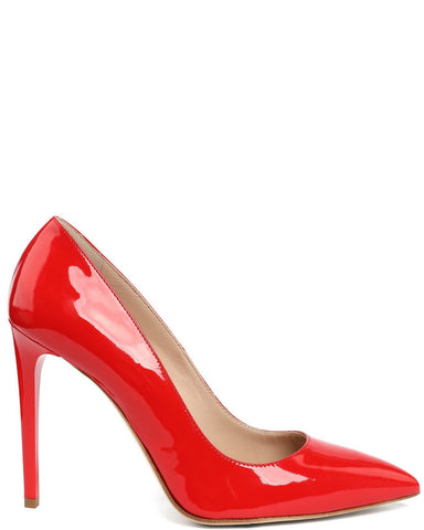 Red Patent Leather Pumps - Jezzelle
