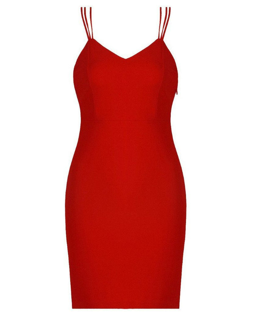 Strappy Back Bodycon Dress-Jezzelle