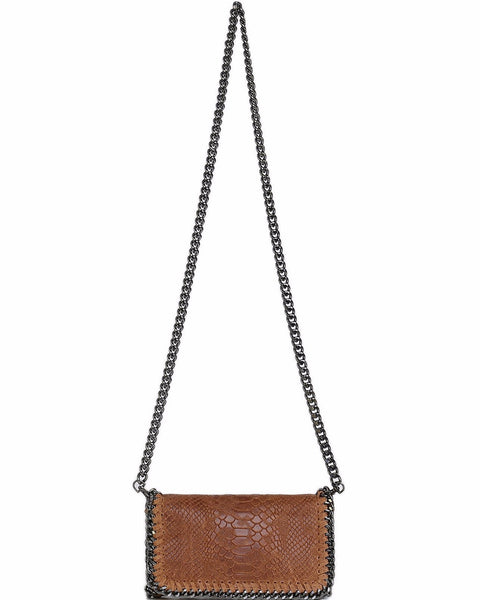 Genuine Leather Camel Shoulder Bag-Jezzelle