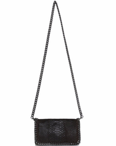 Genuine Leather Black Shoulder Bag