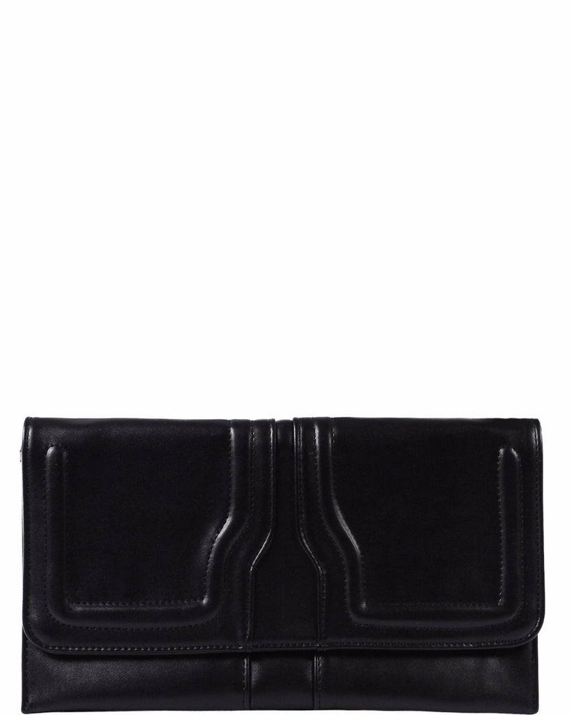 Minimalistic Black Clutch Bag-Jezzelle