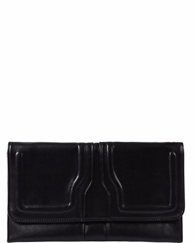 Minimalistic Black Clutch Bag - Jezzelle