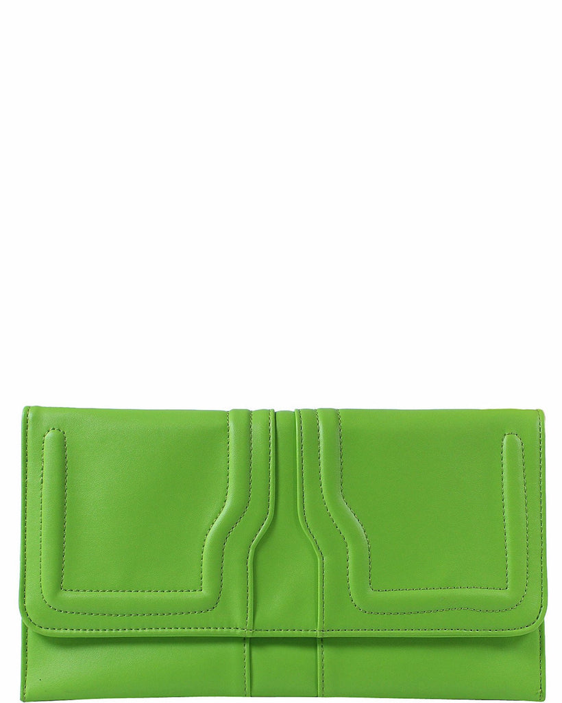 Neon Green Clutch Bag-Jezzelle