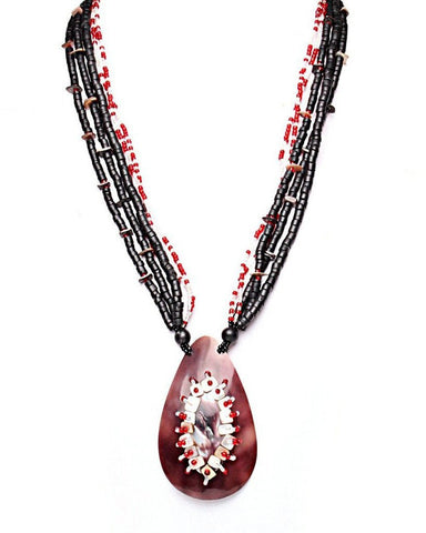 Teardrop Mother-of-Pearl Necklace-Jezzelle