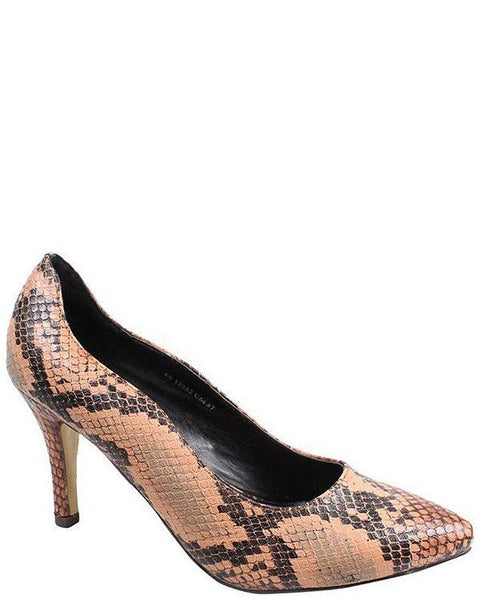 Low Heel Snake print Pumps-Jezzelle