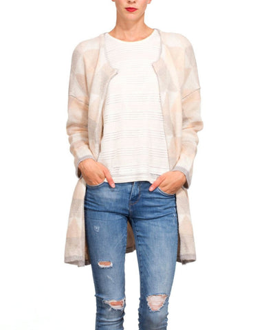 Neutral Colours Long Line Cardigan - Jezzelle