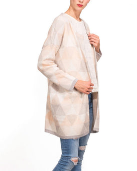 Neutral Colours Long Line Cardigan-Jezzelle