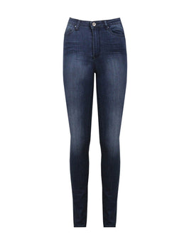 Faded Blue High Waist Skinny Jeans - jezzelle  - 5