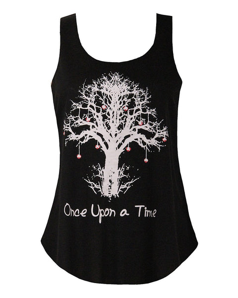 Tree Print Black Top - Jezzelle