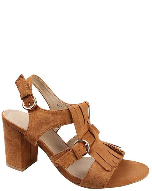 Block Heel Loafer Sandals - Jezzelle