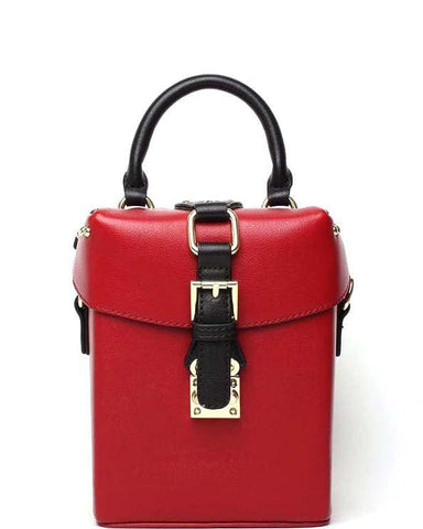 Red Box Shoulder Bag-Jezzelle