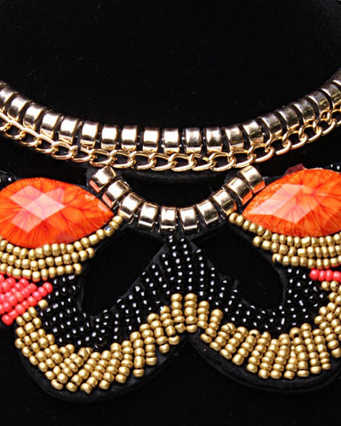 Beaded Collar Necklace-Jezzelle