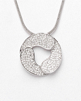 Circle Long Pendant Necklace - Jezzelle