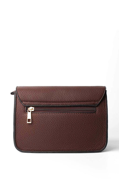 Textured Brown Mini Shoulder Bag - jezzelle  - 3