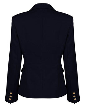 Double Breasted Navy Blazer-Jezzelle
