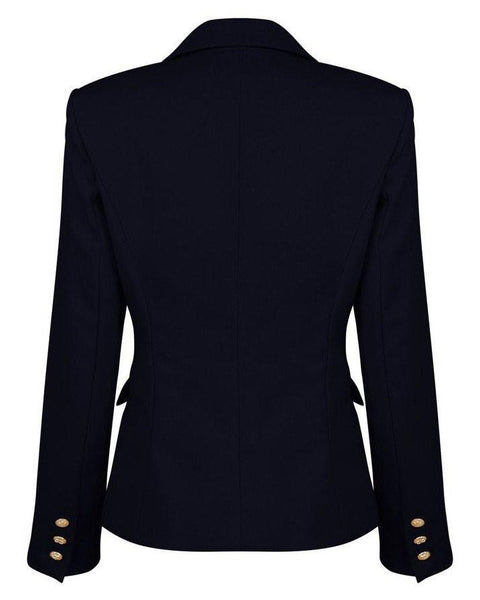 Double Breasted Navy Blazer - Jezzelle