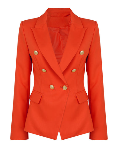 Double Breasted Coral Blazer - Jezzelle