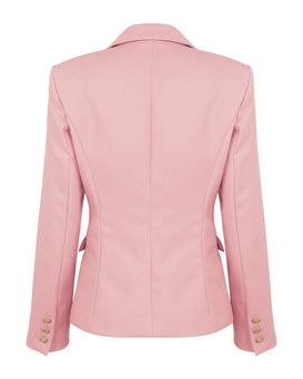 Double Breasted Pink Blazer - Jezzelle