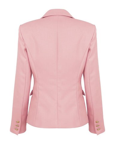Double Breasted Pink Blazer-Jezzelle