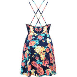 Criss Cross Back Floral Strappy Dress - Jezzelle