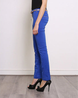 Royal Blue Skinny Trousers-Jezzelle