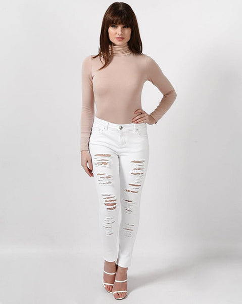 Extreme Rip Skinny Jeans - jezzelle  - 3