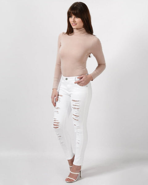 Extreme Rip Skinny Jeans - jezzelle  - 2