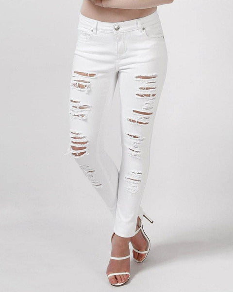 Extreme Rip Skinny Jeans-Jezzelle