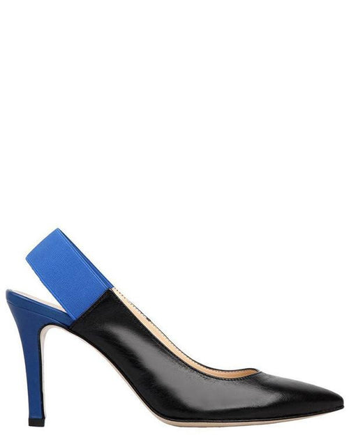 Slingback Leather Court Shoes-Jezzelle