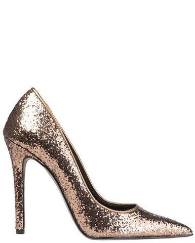 Versace Bronze Glitter High Heel Shoes - Jezzelle