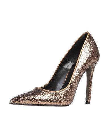 Versace Bronze Glitter High Heel Shoes-Jezzelle