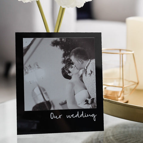 Personalised Photo and Message Acrylic (Black)