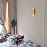 Crescent Half Moon Shape Silver Mirror