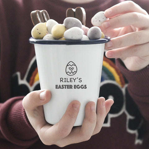 Personalised Treat or Snack Pot - Egg Design