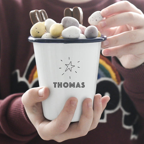Personalised Treat or Snack Pot - Star Design