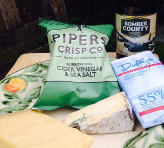 Lincolnshire food and drink including Cote Hill Blue, Tom Wood ale, Duffy's chocolate and Piper's Crisps