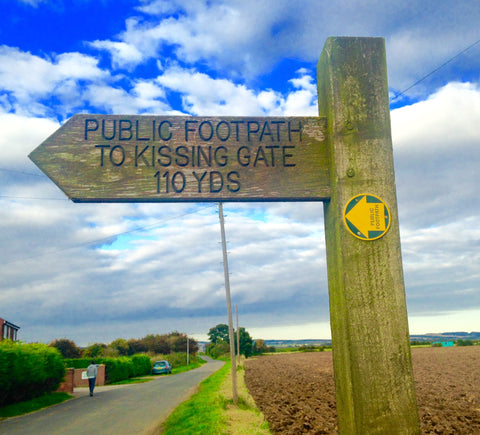 signpost to the Kissing Gate - part of Pheasant Plucker & Son's blog about signs you see in the countryside