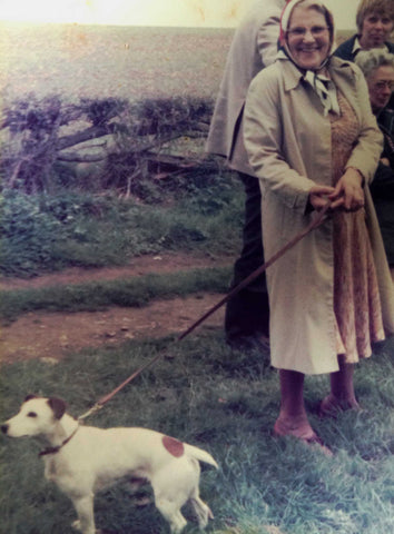 Gran with her Jack Russell Badger