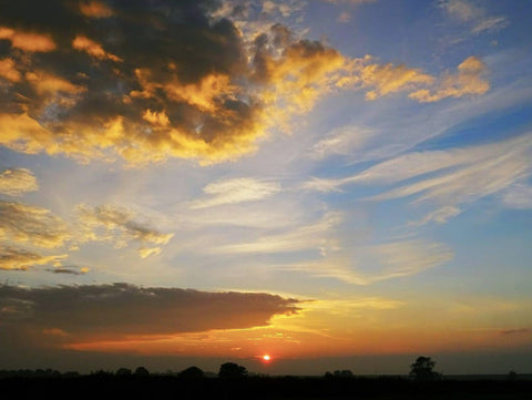 Sunset over North Kelsey, Lincolnshire. Copyright James Mason photography 2016