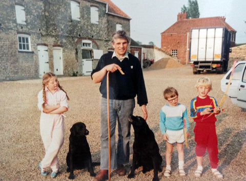 Pheasant Plucker family with Duke and Sam the Labradors