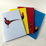 Pheasant Plucker & Son pack of four notebooks featuring pheasant and cockerel designs